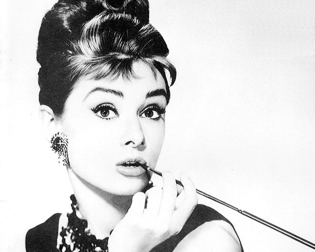 Audrey Hepburn in 1960s Sixties makeup